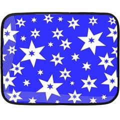 Star Background Pattern Advent Double Sided Fleece Blanket (mini)  by Celenk