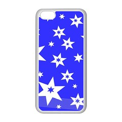 Star Background Pattern Advent Apple Iphone 5c Seamless Case (white) by Celenk