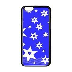 Star Background Pattern Advent Apple Iphone 6/6s Black Enamel Case by Celenk
