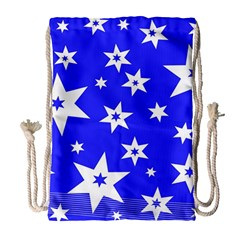 Star Background Pattern Advent Drawstring Bag (large) by Celenk