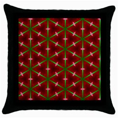 Textured Background Christmas Pattern Throw Pillow Case (black) by Celenk