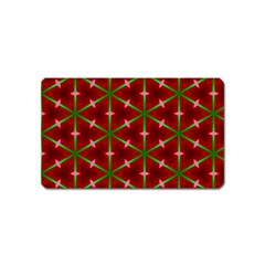 Textured Background Christmas Pattern Magnet (name Card) by Celenk