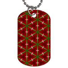 Textured Background Christmas Pattern Dog Tag (two Sides) by Celenk