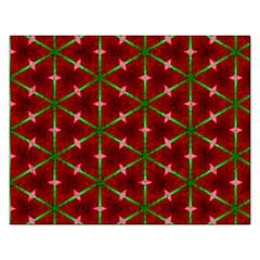 Textured Background Christmas Pattern Rectangular Jigsaw Puzzl by Celenk