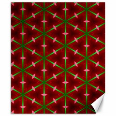 Textured Background Christmas Pattern Canvas 8  X 10  by Celenk
