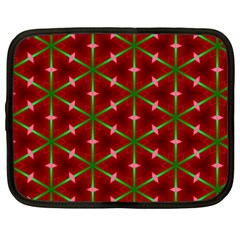 Textured Background Christmas Pattern Netbook Case (large) by Celenk