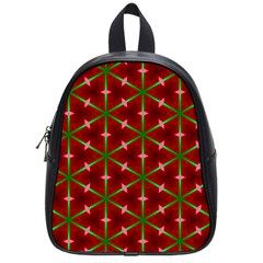 Textured Background Christmas Pattern School Bag (small) by Celenk
