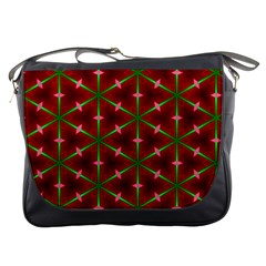 Textured Background Christmas Pattern Messenger Bags by Celenk