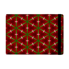 Textured Background Christmas Pattern Apple Ipad Mini Flip Case by Celenk