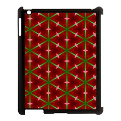 Textured Background Christmas Pattern Apple Ipad 3/4 Case (black) by Celenk