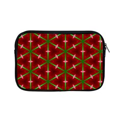 Textured Background Christmas Pattern Apple Ipad Mini Zipper Cases by Celenk