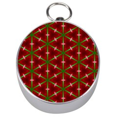 Textured Background Christmas Pattern Silver Compasses by Celenk