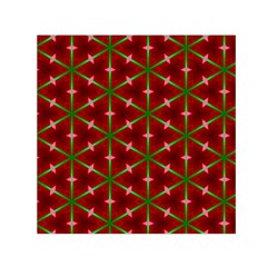 Textured Background Christmas Pattern Small Satin Scarf (square) by Celenk