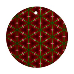 Textured Background Christmas Pattern Ornament (round) by Celenk