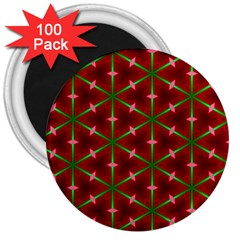 Textured Background Christmas Pattern 3  Magnets (100 Pack) by Celenk