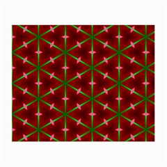 Textured Background Christmas Pattern Small Glasses Cloth (2 Side) by Celenk