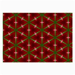 Textured Background Christmas Pattern Large Glasses Cloth (2 Side) by Celenk
