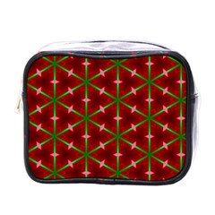 Textured Background Christmas Pattern Mini Toiletries Bags by Celenk