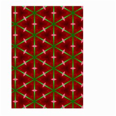 Textured Background Christmas Pattern Large Garden Flag (two Sides) by Celenk