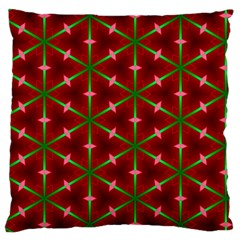 Textured Background Christmas Pattern Large Cushion Case (one Side) by Celenk