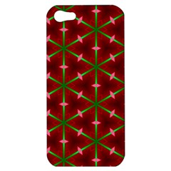 Textured Background Christmas Pattern Apple Iphone 5 Hardshell Case by Celenk