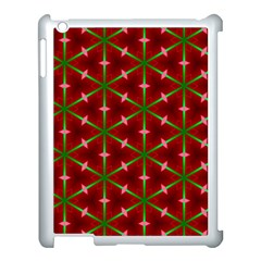 Textured Background Christmas Pattern Apple Ipad 3/4 Case (white) by Celenk