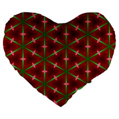 Textured Background Christmas Pattern Large 19  Premium Heart Shape Cushions by Celenk