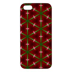 Textured Background Christmas Pattern Apple Iphone 5 Premium Hardshell Case by Celenk