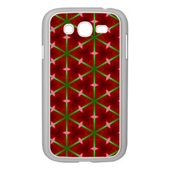 Textured Background Christmas Pattern Samsung Galaxy Grand Duos I9082 Case (white) by Celenk
