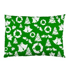 Green White Backdrop Background Card Christmas Pillow Case by Celenk
