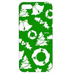 Green White Backdrop Background Card Christmas Apple Iphone 5 Hardshell Case With Stand by Celenk