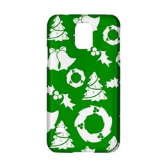 Green White Backdrop Background Card Christmas Samsung Galaxy S5 Hardshell Case  by Celenk