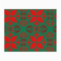Christmas Background Small Glasses Cloth by Celenk