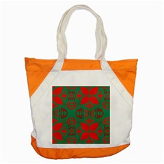 Christmas Background Accent Tote Bag by Celenk