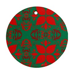 Christmas Background Round Ornament (two Sides) by Celenk
