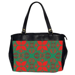 Christmas Background Office Handbags (2 Sides)  by Celenk