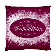 Christmas Card Red Snowflakes Standard Cushion Case (two Sides) by Celenk