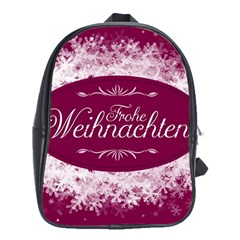 Christmas Card Red Snowflakes School Bag (xl)