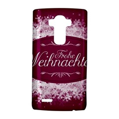 Christmas Card Red Snowflakes Lg G4 Hardshell Case by Celenk