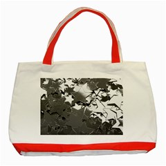 Background Celebration Christmas Classic Tote Bag (red) by Celenk