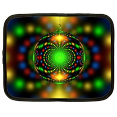 Christmas Ornament Fractal Netbook Case (xxl)  by Celenk