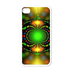 Christmas Ornament Fractal Apple Iphone 4 Case (white) by Celenk