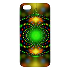 Christmas Ornament Fractal Apple Iphone 5 Premium Hardshell Case by Celenk