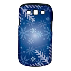 Snowflakes Background Blue Snowy Samsung Galaxy S Iii Classic Hardshell Case (pc+silicone) by Celenk