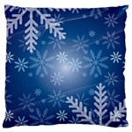 Snowflakes Background Blue Snowy Standard Flano Cushion Case (One Side) Front