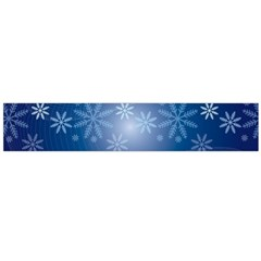 Snowflakes Background Blue Snowy Large Flano Scarf  by Celenk