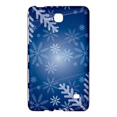 Snowflakes Background Blue Snowy Samsung Galaxy Tab 4 (8 ) Hardshell Case  by Celenk