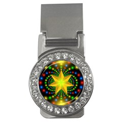 Christmas Star Fractal Symmetry Money Clips (cz)  by Celenk