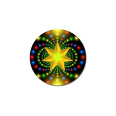 Christmas Star Fractal Symmetry Golf Ball Marker by Celenk