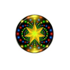 Christmas Star Fractal Symmetry Hat Clip Ball Marker (4 Pack) by Celenk